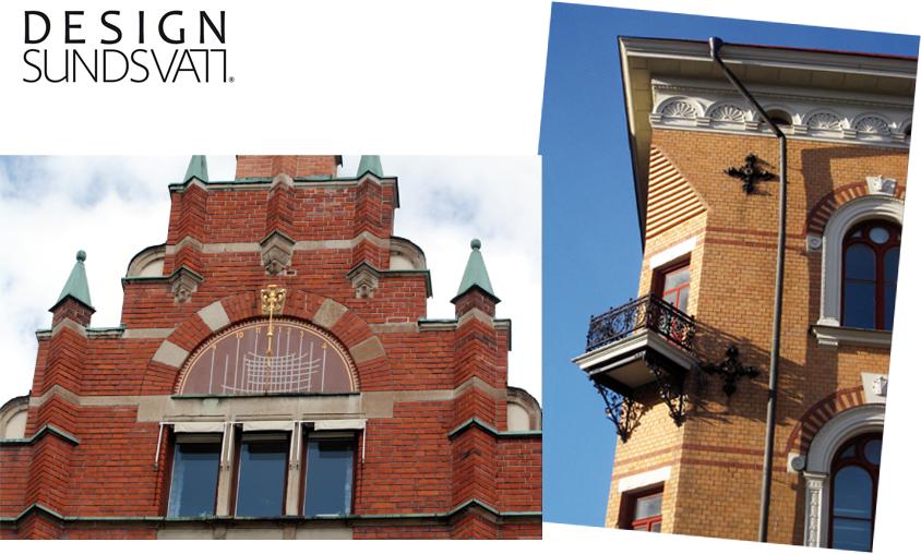 Vykorten i färg är miljöbilder eller detaljer från husen i Stenstan.