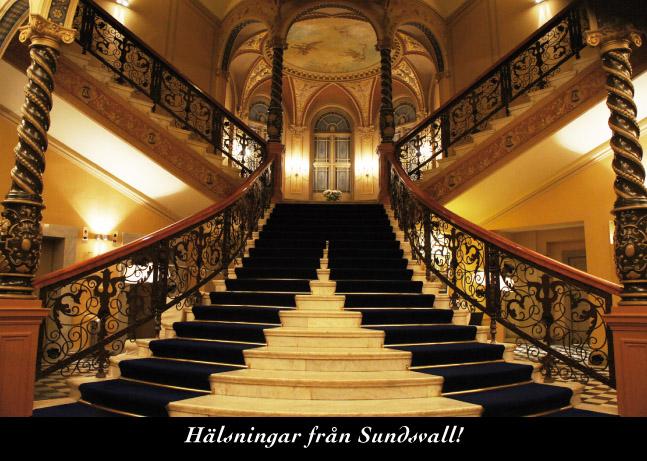 Den mycket berömda trappan i Elite Hotel Knaust.