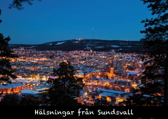 Vykort.030 Sundsvall by night-1