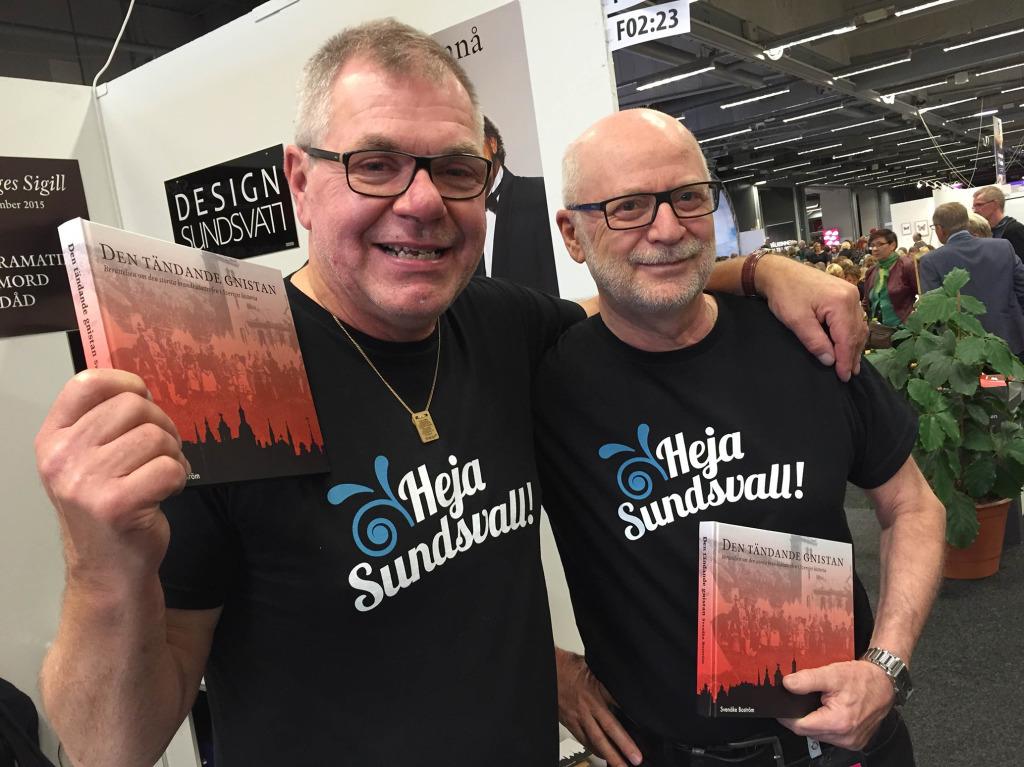 Heja Sundsvall! var den kommentar vi fick när vi hade dessa t-shirts.