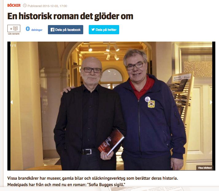 Svenåke Boström och Tommy Jansson har en bok ihop.