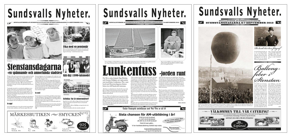 Stenstanstidningen 2011, 2012, 2013