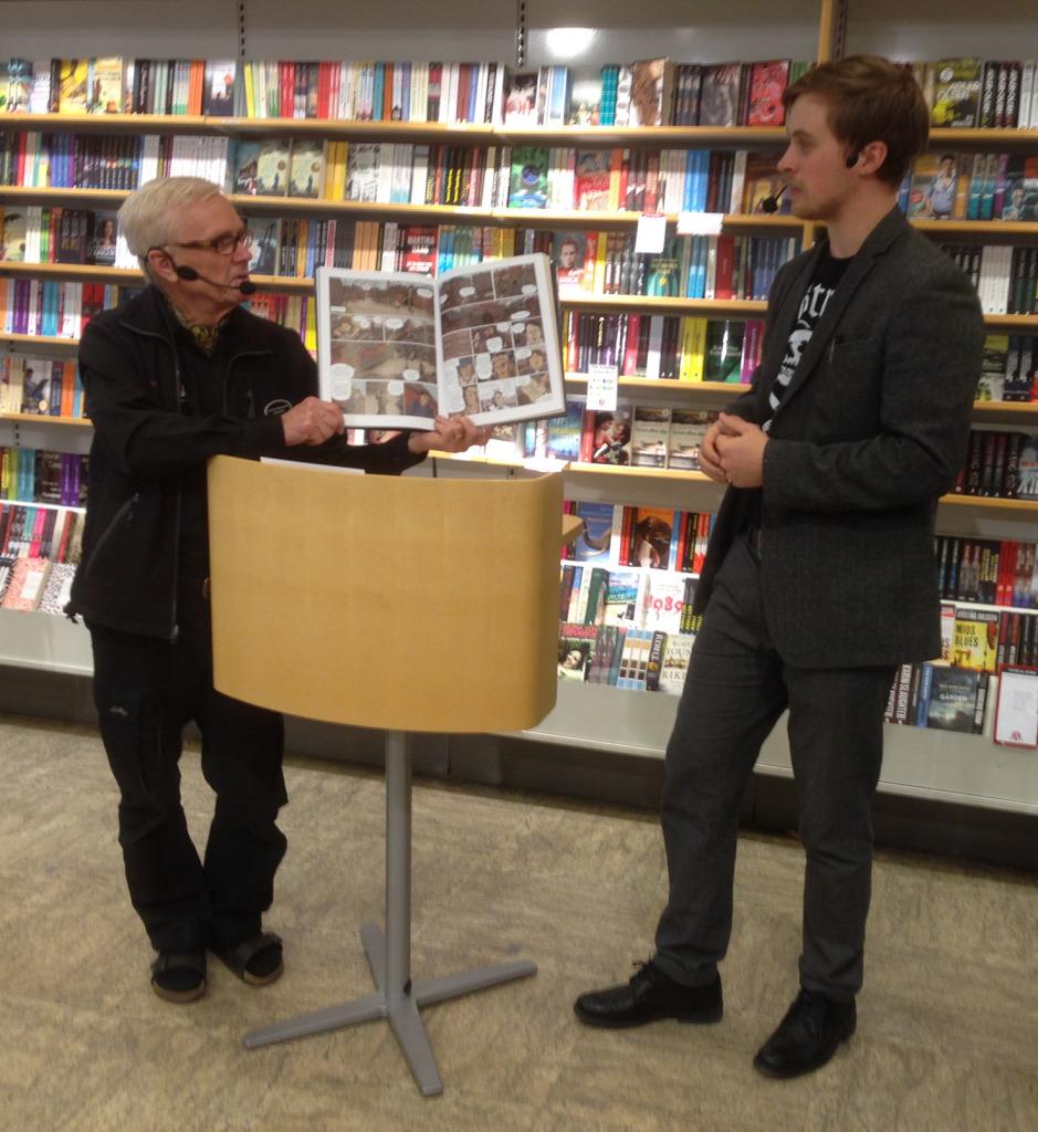Emil Maxén berättade för Lennart Bergström om sin nya bok som kommer nästa år.