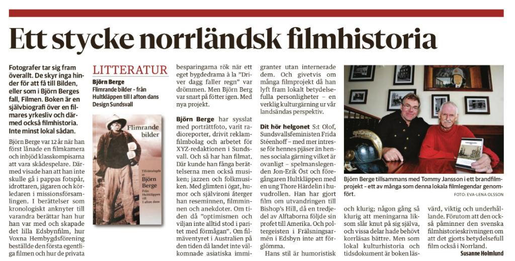 Sundsvalls Tidning 7 februari 2018.
