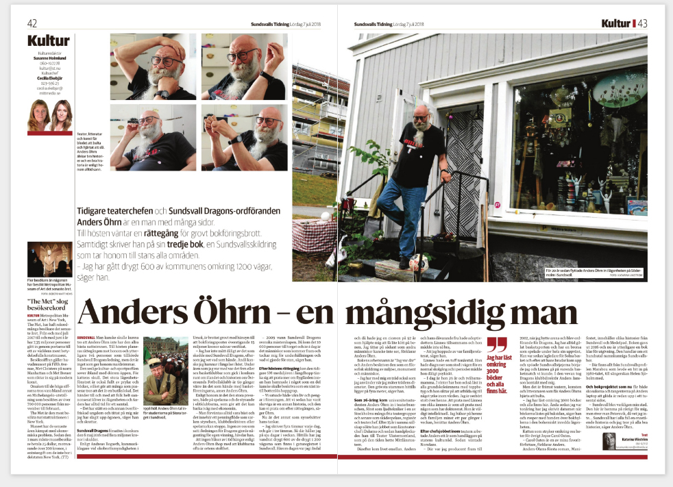 Anders Öhrn i ST, 2018.07.07